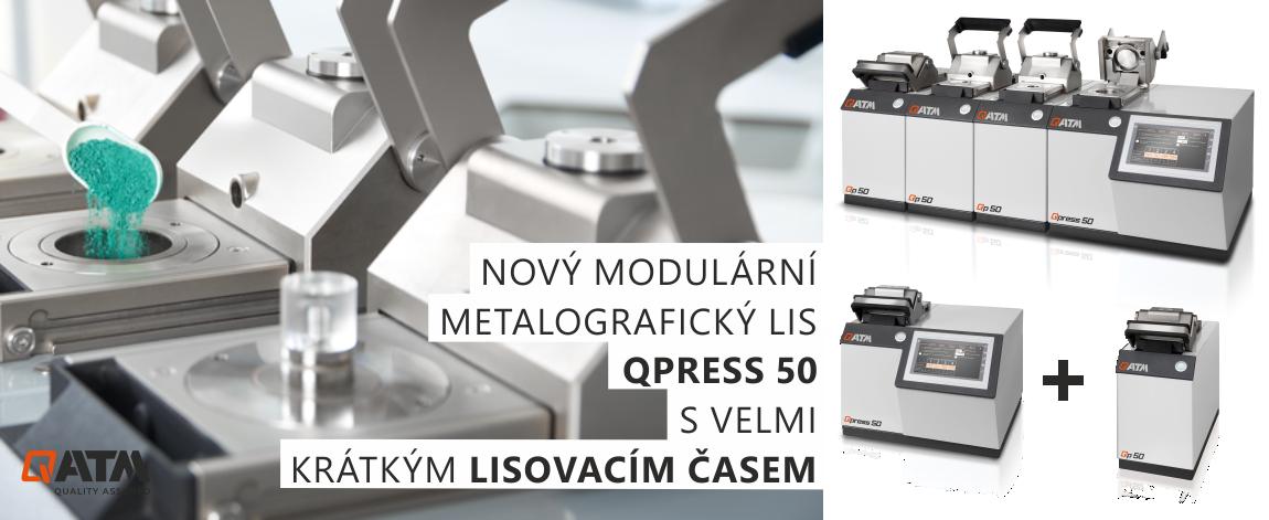 QPRESS 50 (Opal X-Press) je modulární metalografický lis pro rychlé, souběžné a nezávislé zapouzdření různých metalografických vzorků.