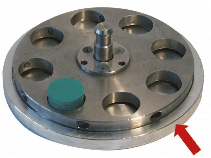 Nivelační disk pro fixaci vzorků do držáku