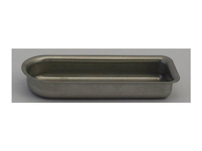 Lodička kovová (opakovatelně použitelná), 54x18x9 mm, 1 ks