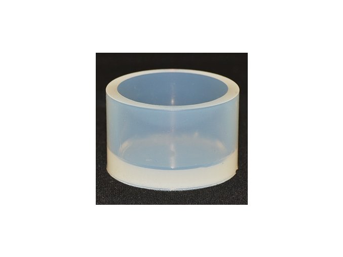 Silikonová kulatá zalévací formička. Rozměry: Ø 38 mm / H 25 mm.