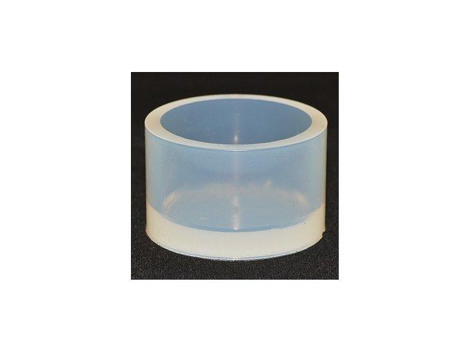 Silikonová kulatá zalévací formička. Rozměry: Ø 25 mm / H 23 mm.