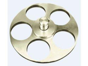 Držák vzorků pro individuální přítlak Ø 130 mm/ 5x Ø 40 mm