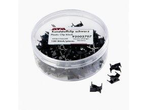 Plastové svorky černé