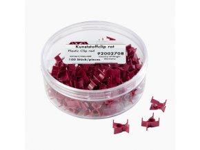 Plastové svorky červené