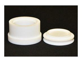 PTFE kulatá zalévací formička. Rozměry: Ø 25 mm / H 23 mm.