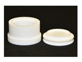 PTFE kulatá zalévací formička Rozměry: Ø 70 mm / H 30 mm.