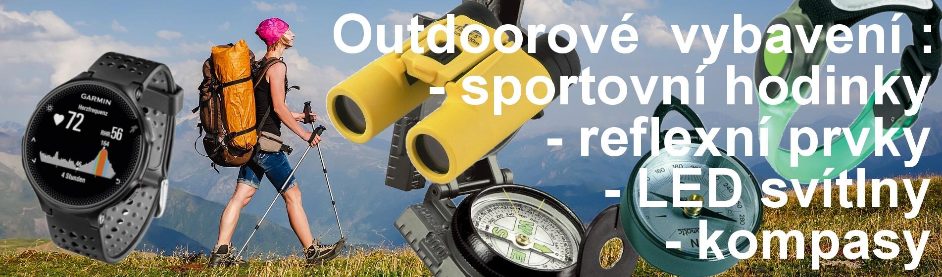 OUTDOOROVÉ vybavení, sportovní hodinky, LED svítilny, čelovky, fitness náramky, krokoměry, dalekohledy,