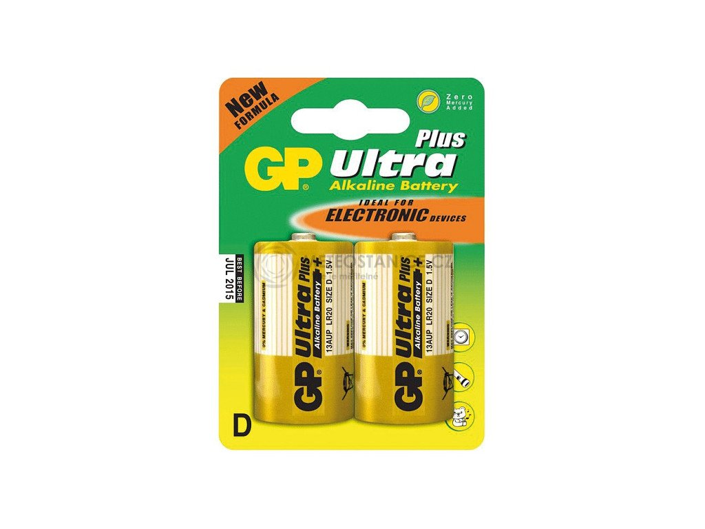Monočlánková baterie D - GP Ultra Plus Alkaline