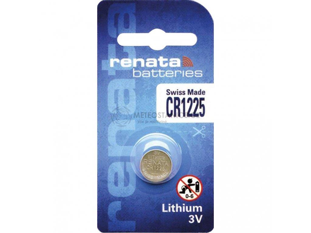 Knoflíková baterie Renata CR 1225, lithium, 700281