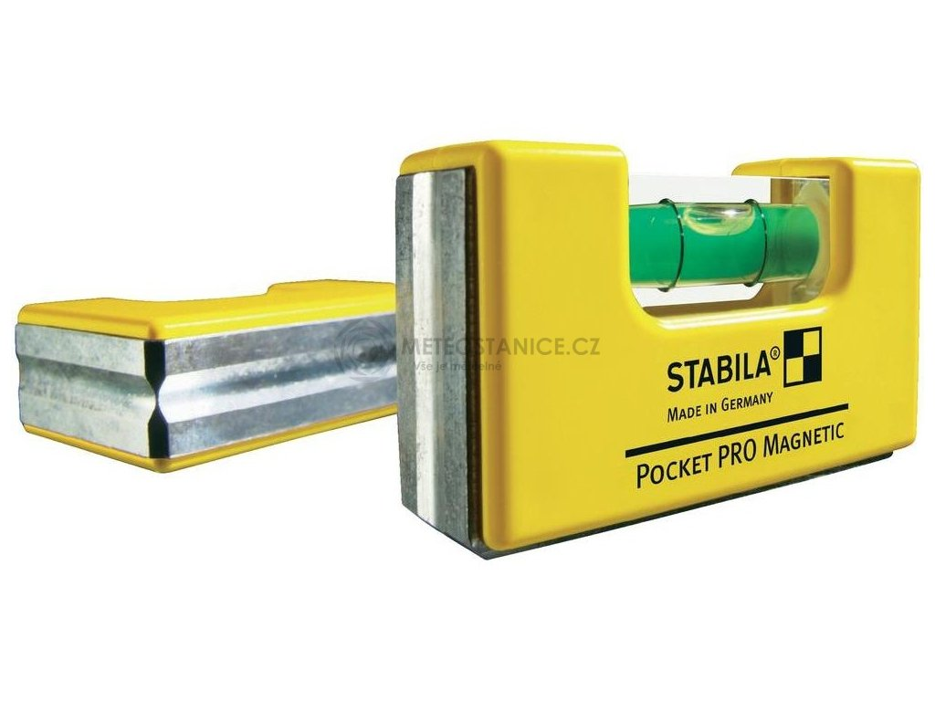 Mini vodováha Stabila Pocket Pro Magnetic 17768 | 68 mm | s magnetem | hliníkový rám