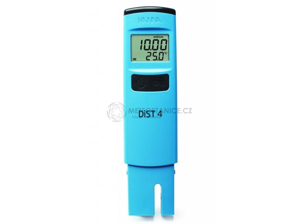 DiST® 4 HI98304; EC tester; konduktoměr s pevně zabudovanou grafitovou sondou