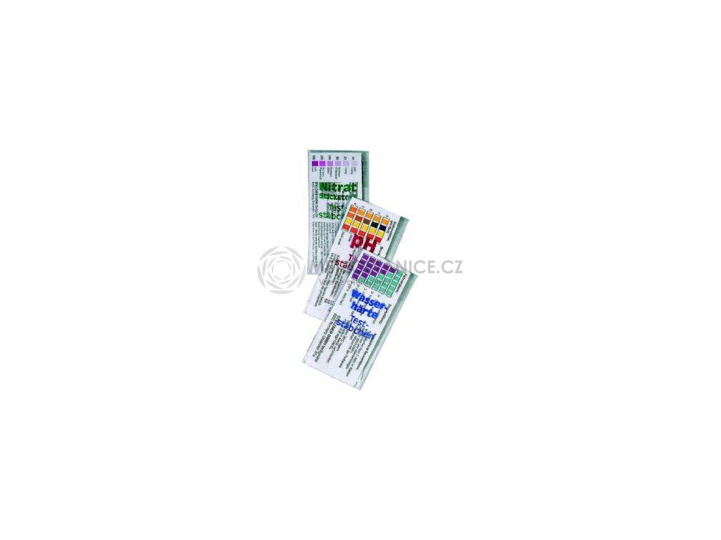 Testovací proužky - dusičňany, tvrdost, pH vody - sada