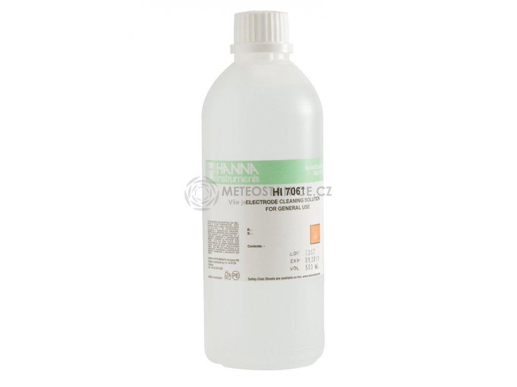 Čistící roztok HI 7061L na pH a ORP elektrody pro běžné použití, 500 ml