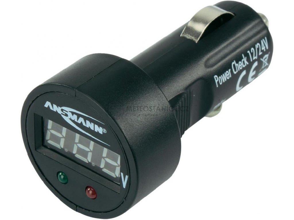 Digitální voltmetr do autozásuvky 12/24 V | Ansmann 1900-0019 |černá