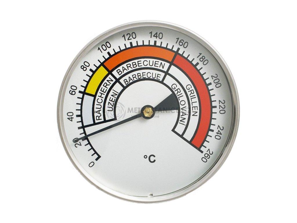 Teploměr do udírny do 260°C, prům. 100 m, stonek 250 mm