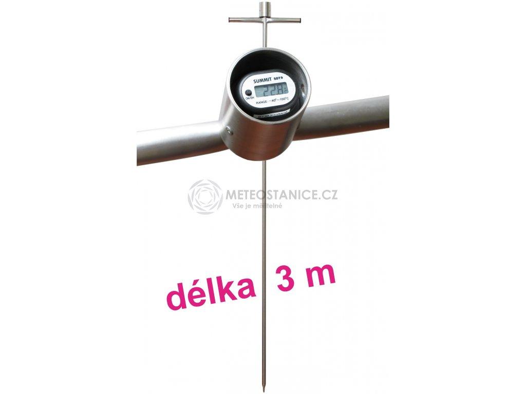 Zemědělský digitální tyčový teploměr - 3000 mm
