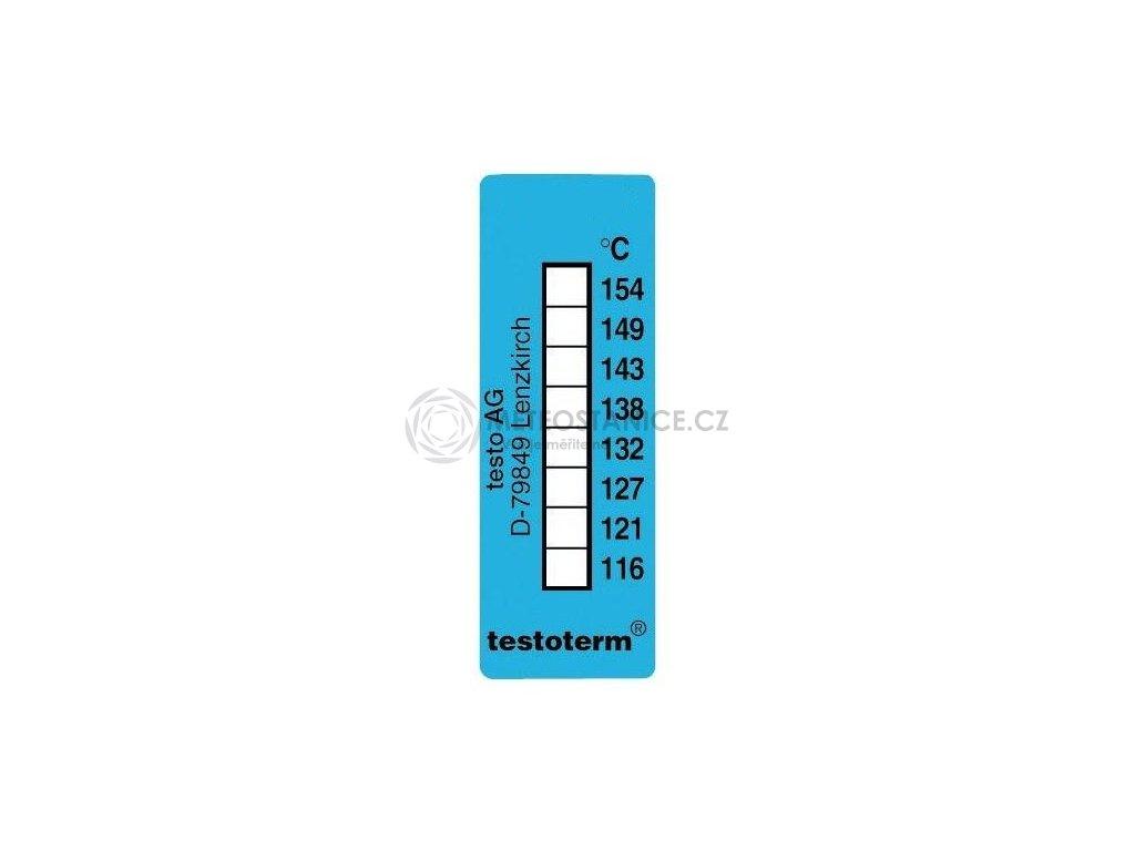 Nevratný teplotní indikátor +116 až +154 C - nalepovací
