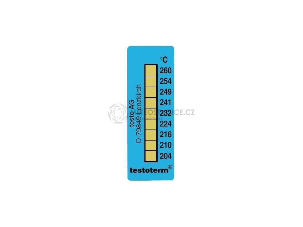 Nevratný teplotní indikátor +204 až +260 C - nalepovací