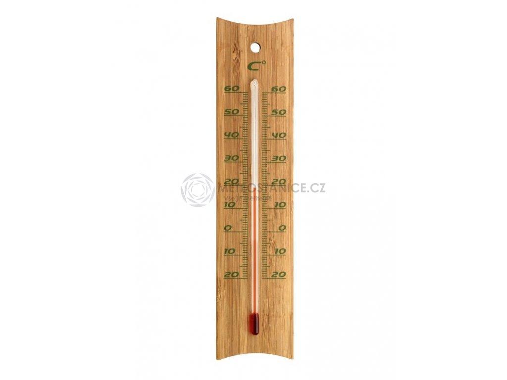 Bambusový indoor outdoor teploměr TFA 12.1049