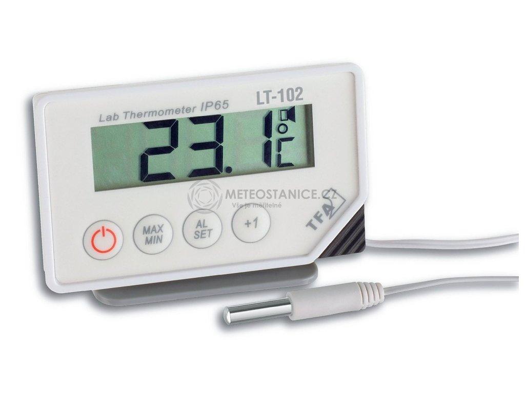 Laboratorní teploměr s teplotním čidlem + ALARM, TFA 30.1034