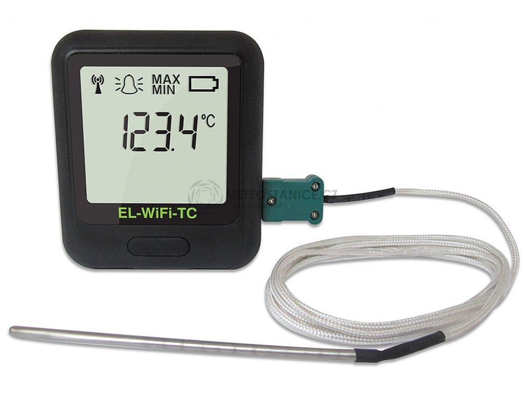 WiFi teplotní datalogger pro termočlánky J, K, N, T; WiFi-TC