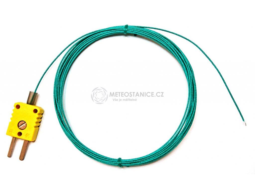 Drátkové teplotní čidlo, termočlánek NiCr-Ni, do 400°C, délka 2 m
