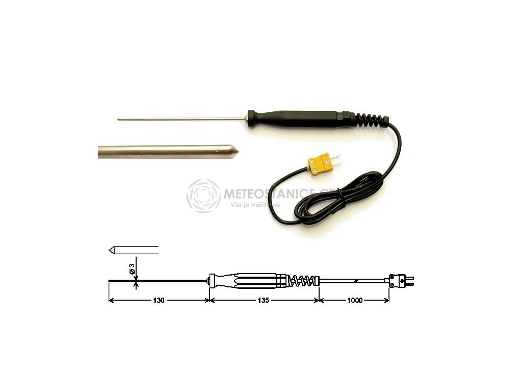 Vpichovací teplotní čidlo GES900 pro vysoké teploty až 1000 °C