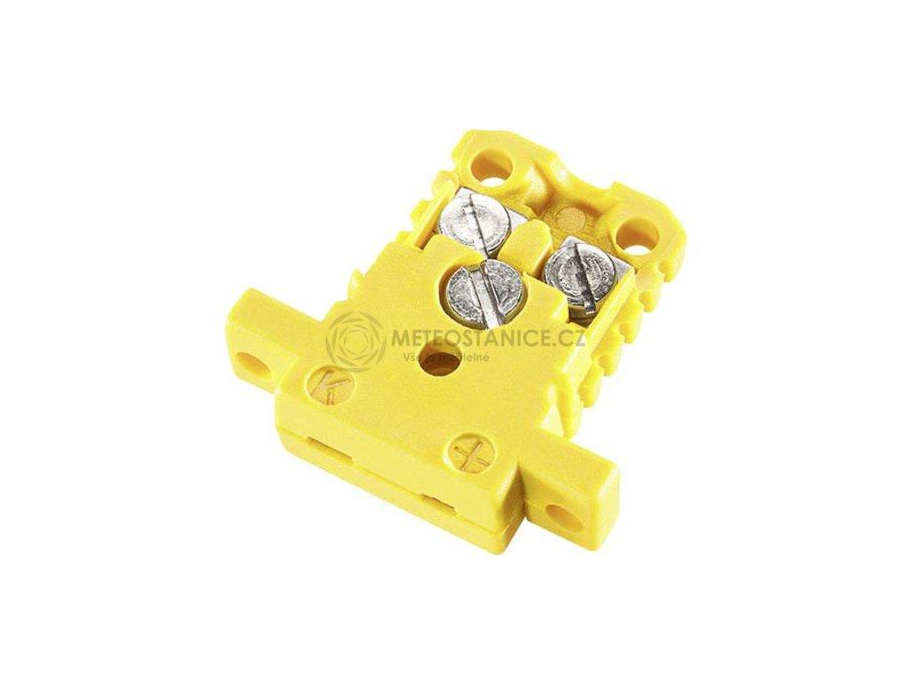 Mini DIN konektor B & B Thermotechnik, žlutá
