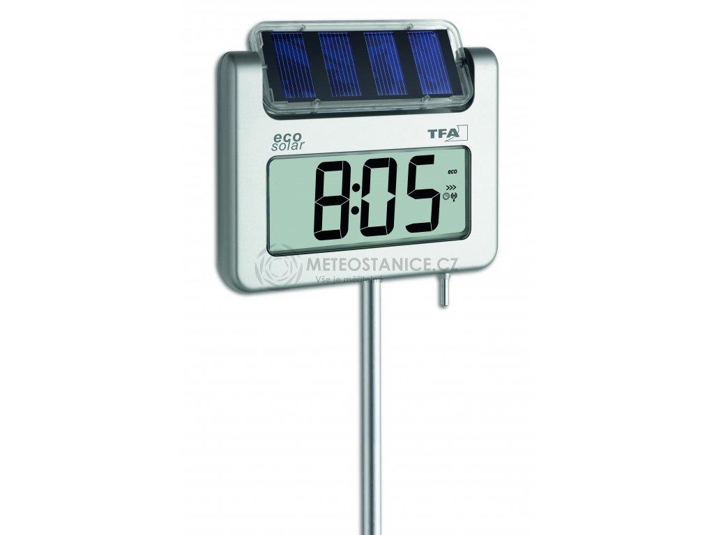 TFA 30.2030.54; Digitální zahradní teploměr se solárním osvětlením + DCF hodiny AVENUE PLUS