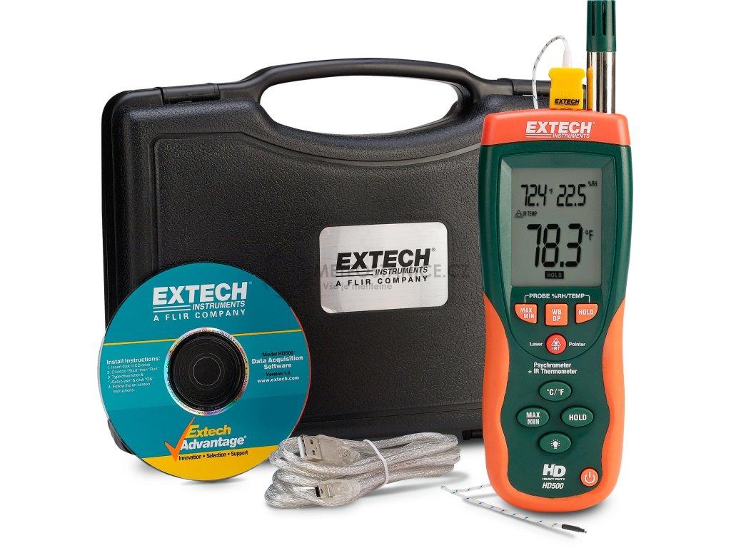 Teploměr-vlhkoměr, infra-teploměr, Extech HD500