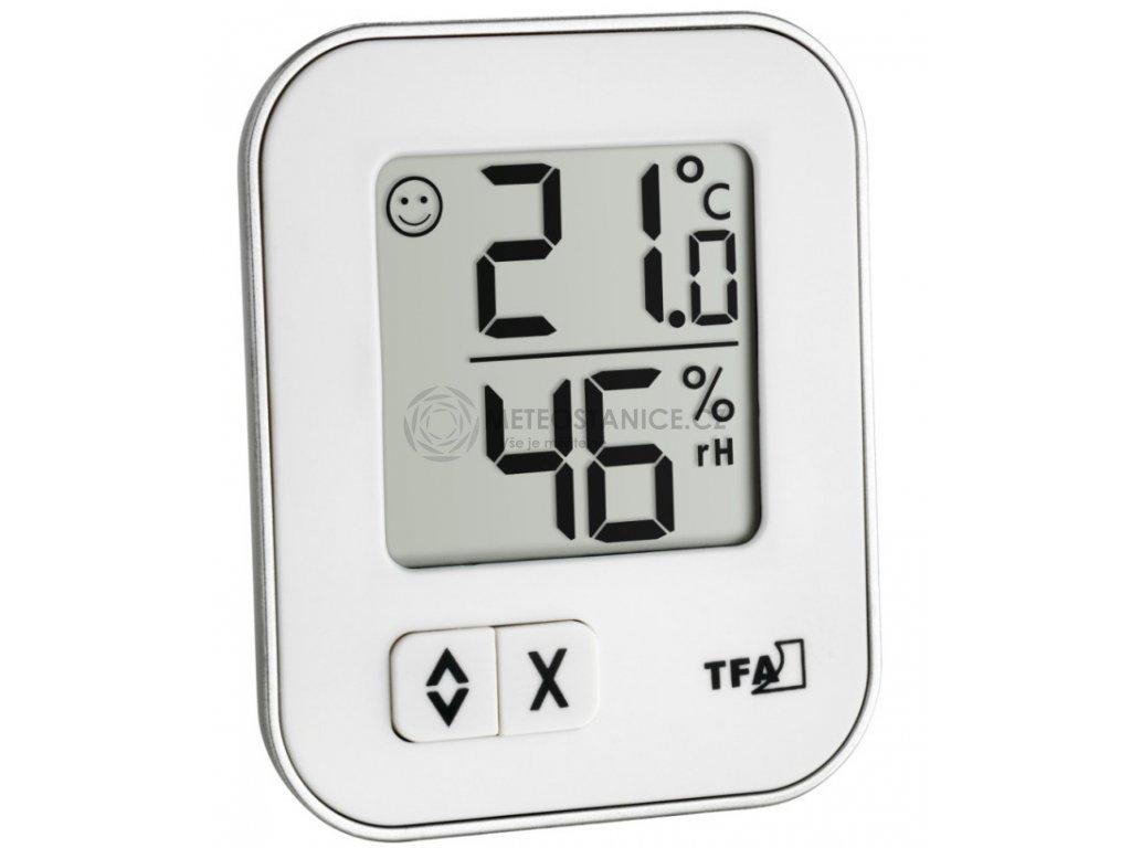 Digitální teplo-vlhkoměr MOXX TFA 30.5026.02 - bílý