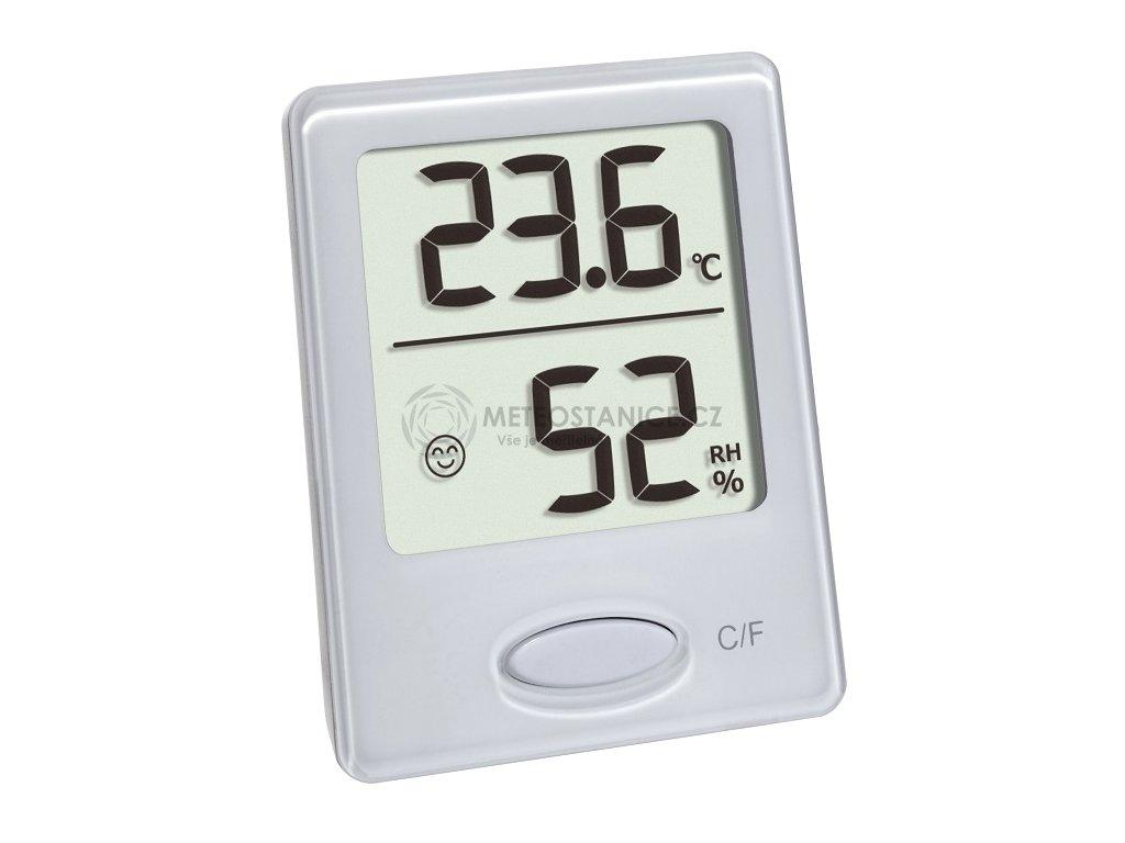 Digitální teplo-vlhkoměr TFA 30.5041.02, bílý