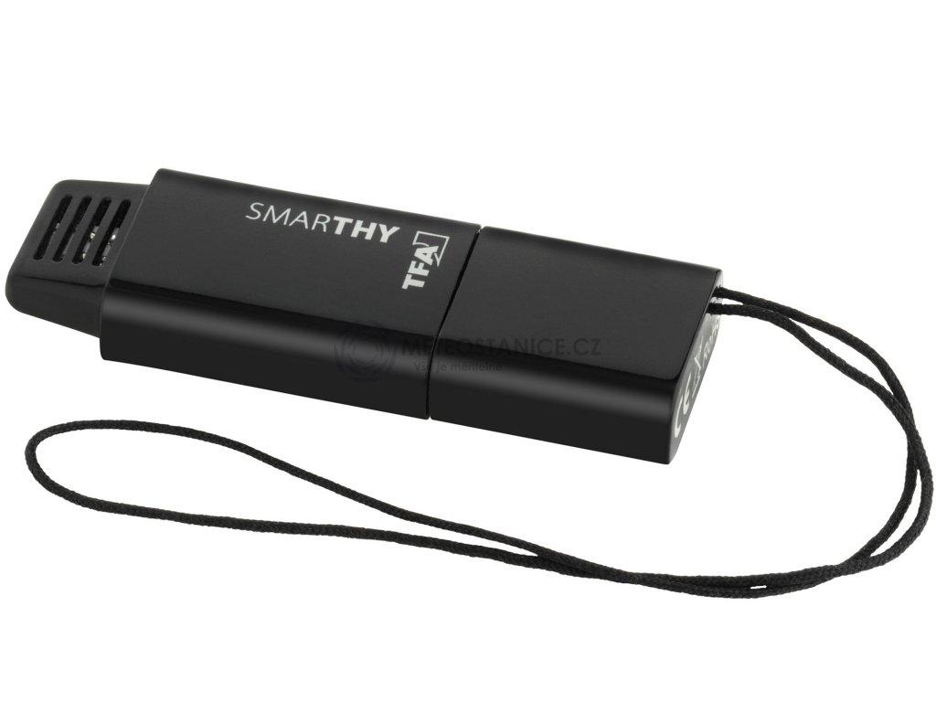 Teploměr a vlhkoměr pro smart-telefony TFA 30.5035.01 SMARTHY, černá
