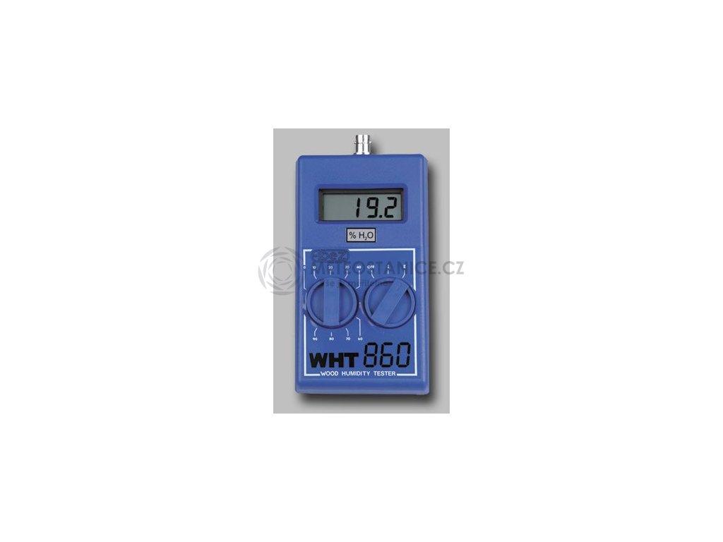 WHT-860 | Vlhkoměr pro měření vlhkosti dřeva a zdiva včetně těžké hrotové elektrody a pouzdra