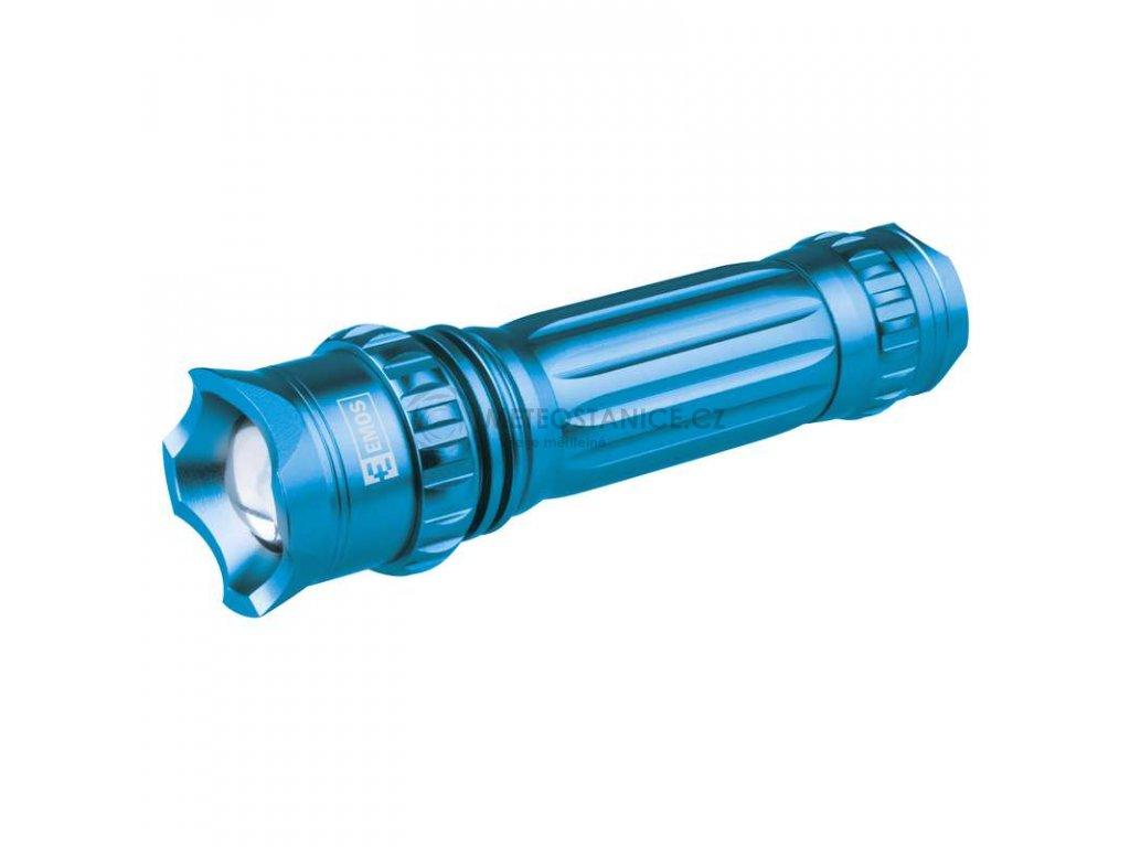 LED svítilna kovová s fokusem, 3W CREE LED, na 3xAAA   P3880