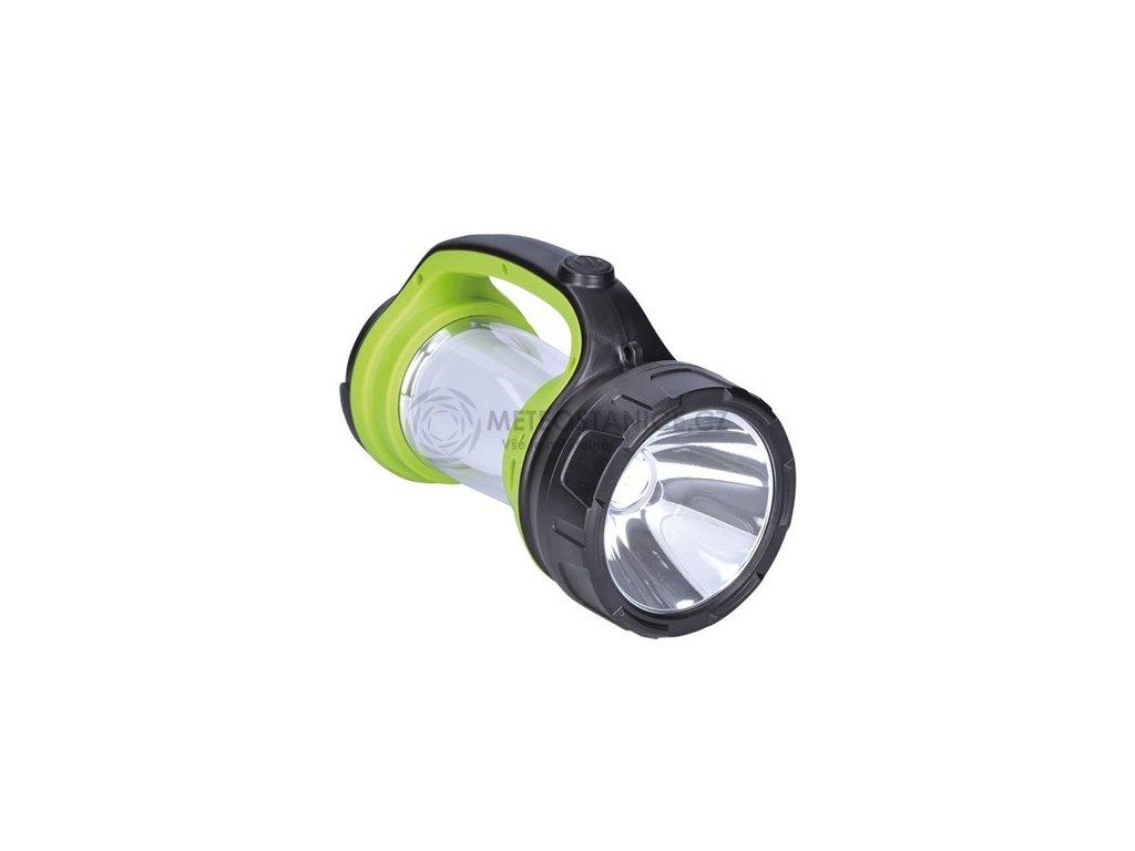 Solight LED svítilna nabíjecí s lucernou, 3W Cree, 168lm + 200lm, zeleno-černá