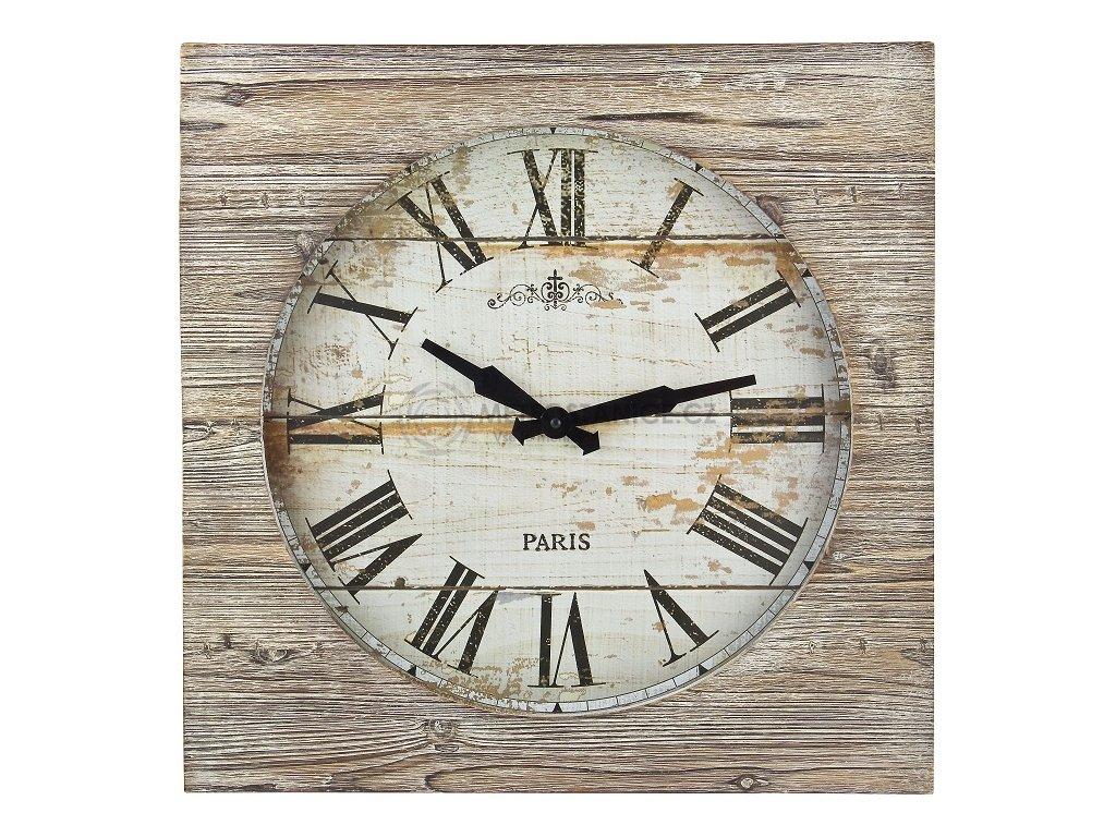 Dřevěné nástěnné RETRO hodiny Vintage XXL TFA 60.3030.08