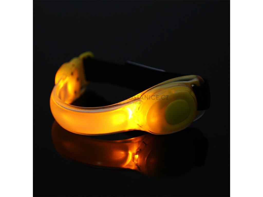 Bezpečnostní světlo jako náramek na ruku-paži, žlutá LED