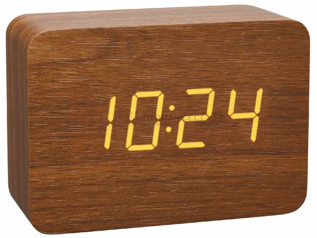 Digitální budík DCF v dřevěném designu TFA 60.2549.08 CLOCCO - hnědá