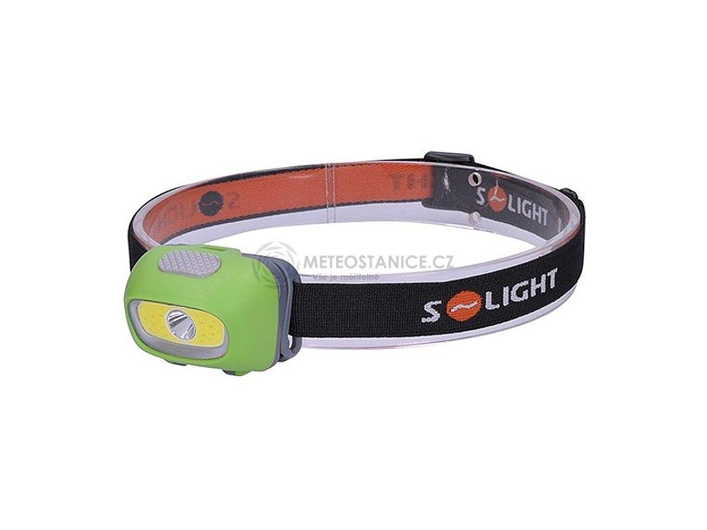 Solight |WH24| LED čelová svítilna, 3W Cree + 3W COB, 120lm, bílé + červené světlo, 3x AAA