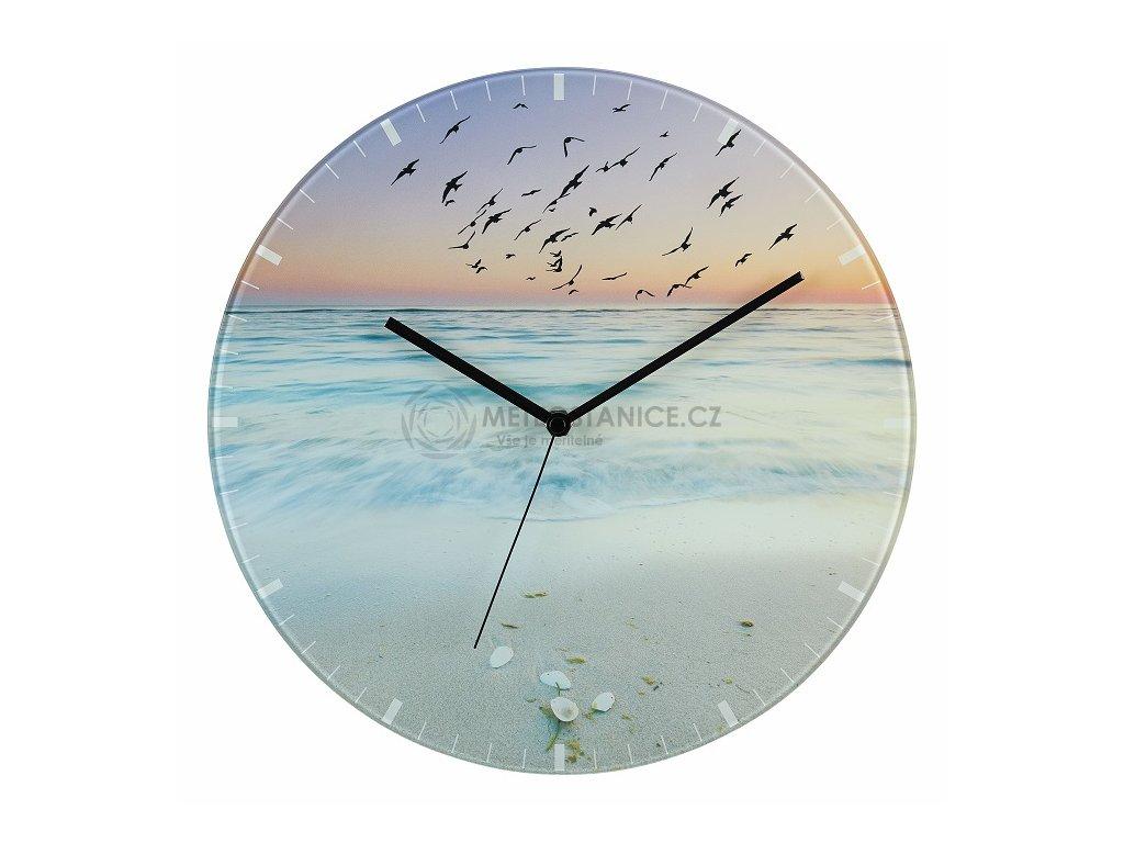 Skleněné nástěnné hodiny TFA 60.3042.90