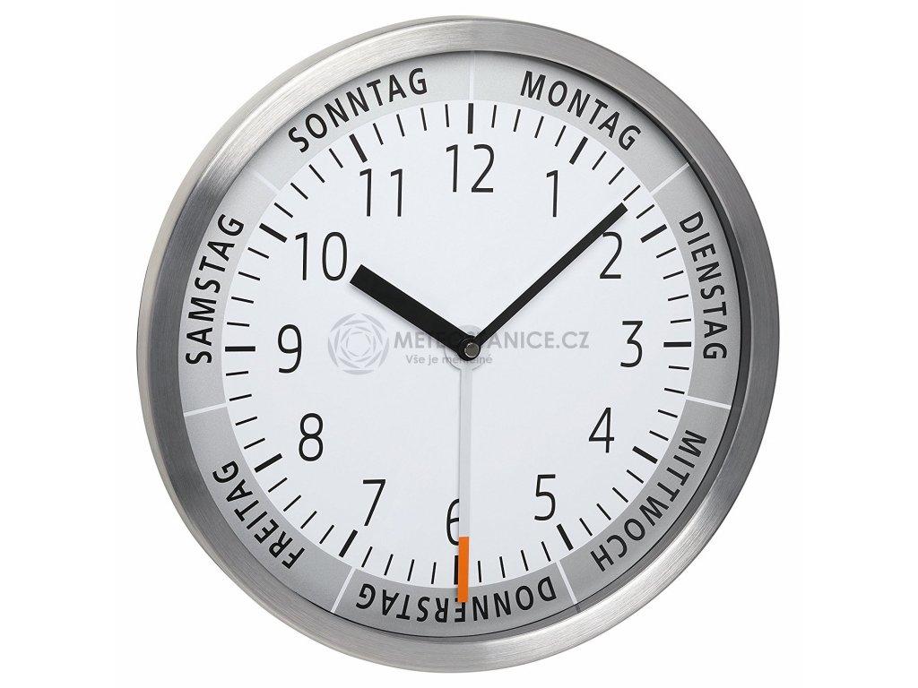 Nástěnné hodiny TFA 60.3044.02 s ukazatelem dne v týdnu