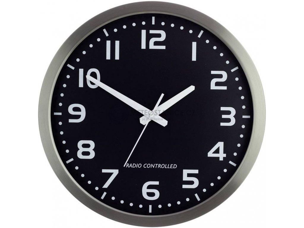 Analogové DCF nástěnné hodiny M601508   Ø 40 cm   stříbrná
