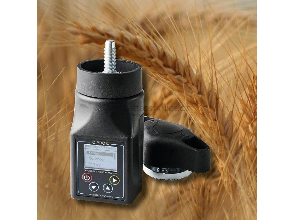 Vlhkoměr obilí SuperTech C-PRO s drtičem, pro měření vlhkosti obilovin, olejnin a semen trav