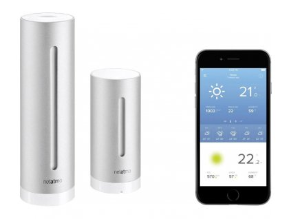 Meteostanice pro Android a Apple Netatmo NWS01, NE1001ZZ, 100 m, 868 MHz