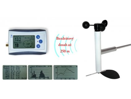 Bezdrátový měřič rychlosti a směru větru s dlouhým dosahem WL11-WSD