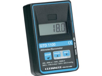 Přesný barometr-výškoměr-teploměr Greisinger GTD 1100