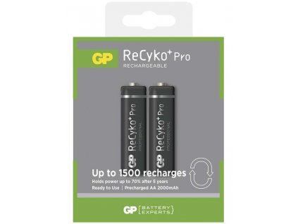 Nabíjecí baterie GP ReCyko+ Pro Professional HR6 (AA), 2 ks | B0827