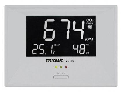 Měřič koncentrace CO2, teploty a vlhkosti, Měřič koncentrace CO2, teploty a vlhkosti, Voltcraft CO-60