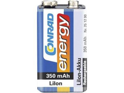 Akumulátor Conrad energy 9 V, Li-Ion, 350 mAh
